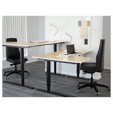 bekant corner desk left sit stand black brownwhite ikea