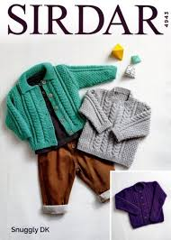 Knitting Pattern Sirdar 4943 Snuggly Dk Babys And Girls Cardigans And Sweater