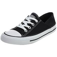 converse womens. converse chuck taylor all star coral ox fashion sneaker shoe - black/white womens
