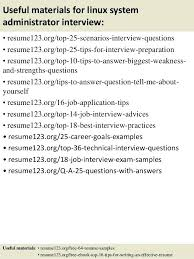sample resume for experienced linux system administrator  foodcity.me