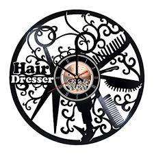 hair salon vinyl record wall clock home room or bathroom wall decor gift ideas on wall clock art design with amazon hair salon vinyl record wall clock home room or