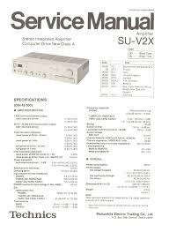 su vx technics service manual com technics su v2x high quality service manual
