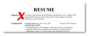 Good Objective To Put On A Resume Spacesheep Co