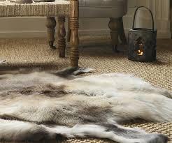 reindeer skin rugs uk
