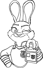 Small Picture Judy Hoops I Am Police Coloring Page Wecoloringpage