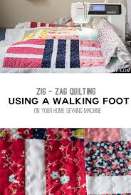 How to quilt - Zig zag walking foot quilting on a home sewing ... & Zig zag walking foot quilting tutorial by emily of quiltylove.com Adamdwight.com
