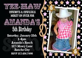 free printable birthday party invitations for girls cowboy birthday party invitations girls printable birthday invites