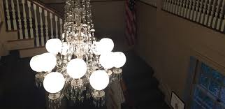 grand light revisits minute man national historical park to clean crystal chandelier