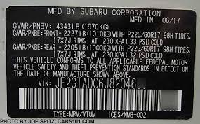 2018 subaru vin. wonderful 2018 2018 subaru crosstrek vin plate 25i and premium model with 17 in subaru vin