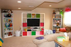 Image of: Cheap Basement Playroom Ideas