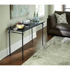 Floor Tables Mainstays 34 Square Fold In Half Table Black Walmartcom