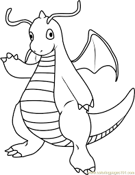 Small Picture Dragonite Pokemon Coloring Page Free Pokmon Coloring Pages