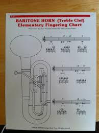 Baritone Finger Chart Treble Clef 3 Valve Baritone Horn Treble Clef Elementary Fingering Chart