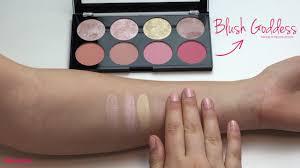 swatches blush palette blush dess makeup revolution