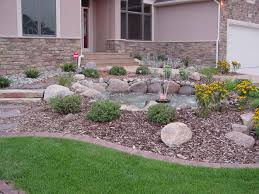 Grass and Rock Landscaping Ideas  Beautiful Beautiful Landscape Ideas for Front  Yard Rock Landscaping Excerpt