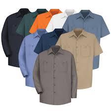 Red Kap Mens Wrinkle Resistant Cotton Work Shirt Sc40 Sc30
