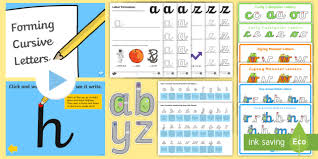 Handwriting Progression Chart Cursive Handwriting And Letter Formation Pack Teacher Made