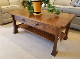 amish oak coffee table