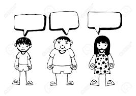 Vettoriale Bambini Disegnati A Mano E Bolle Di Discorso Set Image