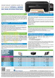 Printer Ink Price Comparison Chart Epson Ink Tank System Printers Printing Cost Comparison
