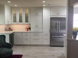 ikea kitchen grimslov cabinets under and in cabinet lighting built in fridge