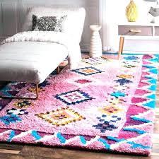 hmade nuloom pink rug vintage persian medallion 8x10