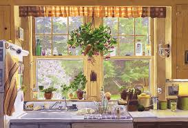 new england painting new england kitchen window by mary helmreich