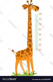 Giraffe Chart Giraffe Meter Wall Or Height Chart