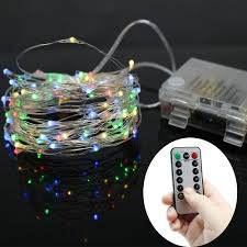 Micro Silver Wire lights IP65, Battery Fairy Lights Timer Function 2  batteries of Remote Control included-in Holiday Lighting from Lights &  Lighting on ...