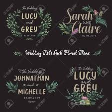 Wedding Title Template Wedding Title With Flowers Decorative Elements