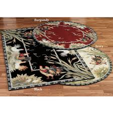 Rooster Rugs For Kitchen Rooster And Hens Round Rugs