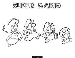 Small Picture Mario Kart Coloring Pages To Print Elioleracom