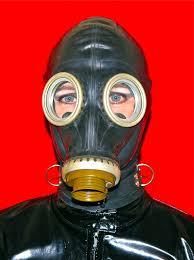 Kinky fetish gasmasks and hoods