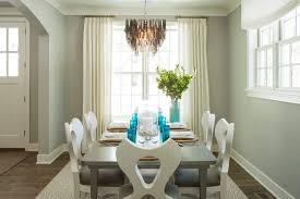 benjamin moore wickham gray dining room beach style with dining chairs traditional candleholders