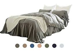 dobeans gray farmhouse duvet cover king