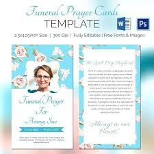 Funeral Prayer Cards Funeral Memorial Prayer Cards Template Danielmelo Info