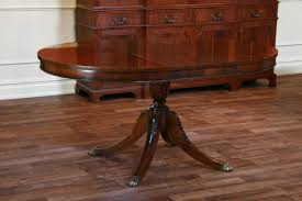 mahogany pedestal dining table with leaf
