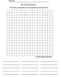 Blank Wordsearch Template Grandkids Pinterest Phonics