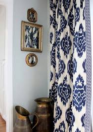 Navy Blue Patterned Curtains Enchanting Curtains And Mirrors Window Treatments Pinterest Window House