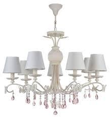 Casa Padrino Jugendstil Kristall Kronleuchter 7 Flammig Creme Rosa ø 81 X H 65 Cm Lüster Mit Weißen Lampenschirmen