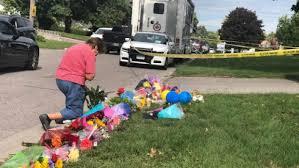 makeshift memorial grows outside oshawa