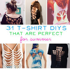 T Shirt Design Ideas Cutting 31 T Shirt Diys That Are Perfect For Summer