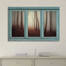 vintage teal window looking out into a foggy sepia forest favorite canvas art on sepia bathroom wall art with vintage teal window looking out into a foggy sepia forest canvas