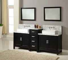 Vanity Cabinets For Bathroom 84 Horizon Double Vanity Sink Console With Ebony Finish White