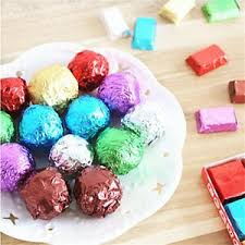 Chocolates Wrappers Details About 100pcs Square Foil Wrappers For Candy Chocolate Sweets Confectionary 8x8 New Fo