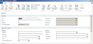 customer info card template create data from templates microsoft dynamics nav community