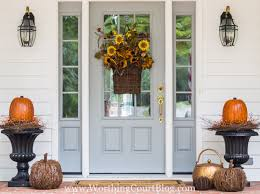 fall front door decorationsEasy And Simple Fall Front Porch And Our New Front Door