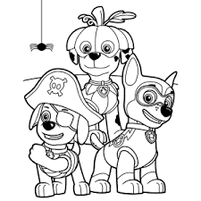 Paw Patrol Kleurplaten Colouring Pages Free Halloween Coloring