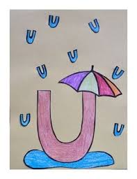 U Template Letter U Cut Paste Craft Template U Is For Umbrella Education