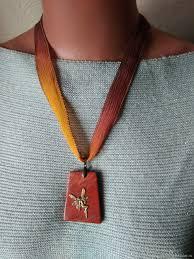 pendants handmade pendant angel red jasper the strongest guardian